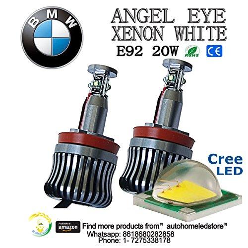 2pc x e92 20w Cree Bmw Led Marker Light 360degree Angel Eyes for Car E60 E61 E90 E92 E70 E71 E82 E89 1 3 5 Series X5 X6 Z4 (Brother 6500 compare prices)
