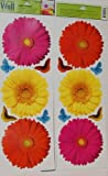 Main Street Wall Creations Jumbo Stickers - Marigold Flowers