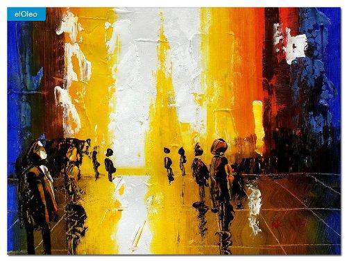elOleo Abstrakt – Berlin Galeries Lafayette 30×40 Gemälde auf Leinwand handgemalt 79720A jetzt kaufen