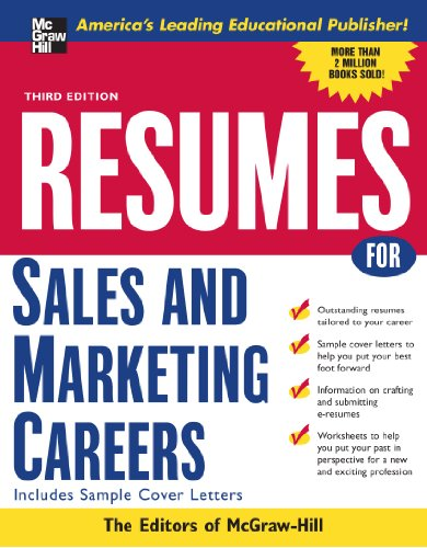 Resumes For Sales And Marketing Careers, Third Edition (Vgm Professional Resumes Series)