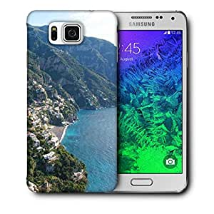 Snoogg White Clouds Printed Protective Phone Back Case Cover For Samsung Galaxy SAMSUNG GALAXY ALPHA