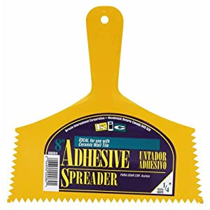 Homax Group 84 Wide Ceramic Tile Adhesive Spreader Notch, 1/4-Inch