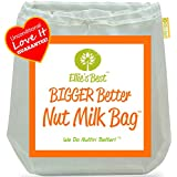 "Pro Quality Nut Milk Bag - Big 12""X12"" Commercial Grade - Reusable Almond Milk Bag & All Purpose Strainer - Fine Mesh Nylon Cheesecloth & Cold Brew Coffee Filter - Free Recipes & Videos"