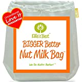 "Pro Quality Nut Milk Bag - #1 Big 12""X12"" Commercial Grade, Reusable Almond Milk Bag & Multipurpose Kitchen Tool - Fine Mesh Strainer & Vitamix Juicer - Free Recipes & Videos"