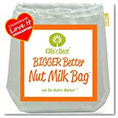 """Pro Quality Nut Milk Bag - Big 12""""X12"""" Commercial Grade - Reusable Almond Milk Bag & All Purpose Strainer - Fine Mesh Nylon Cheesecloth & Cold Brew Coffee Filter - Free Recipes & Videos"""