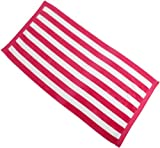 Northpoint Luxury Cabana Stripe Beach Towel, Hot Pink
