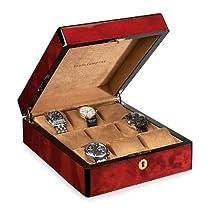 Venlo Triple Burlwood Nine Holder Watch Case