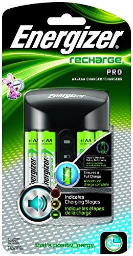 Energizer +B6 L6 Recharge Pro Charger with 4 AA NiMH Rechargeable Batteries, Auto Shutoff, Bad Battery Detection and Enhanced Charging Alerts (Batteries Recharge compare prices)