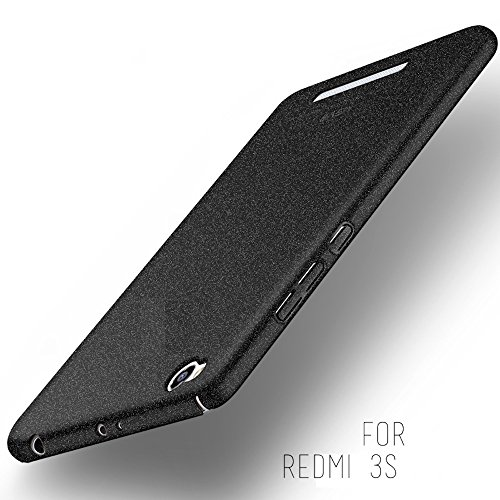 Tapfond-TM-All-Sides-Protection-360-Degree-Sleek-Quicksand-Matte-Hard-Back-Case-Cover-For-XIAOMI-MI-REDMI-3S-Sandstone-Black
