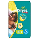 Pampers Baby Dry Size 5 Junior x 16 Nappies