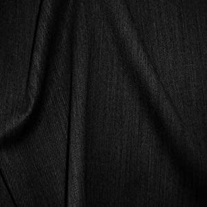 Wool Fabric Superfine Gabardine Black