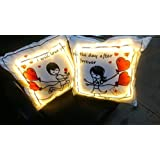 Love Couple LED Cushions (2 Couple Cushions) (Batteries Included) Best Anniversary Gift/Marriage/ Gift For Boyfriend, Gift For Girlfriend, Gift For Husband, Gift For Wife.