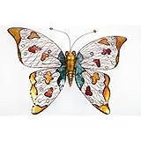 point-garden Décoration de jardin en métal Motif papillon Taille XXL