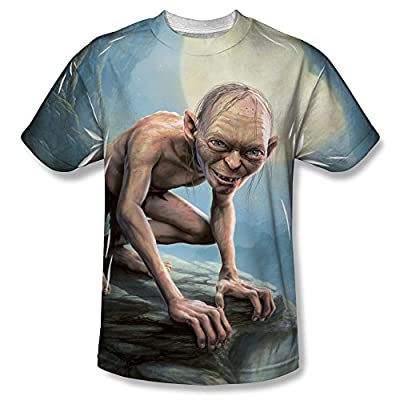 Lord Of The Rings Two Towers Gollum Moon All Over Front T-Shirt