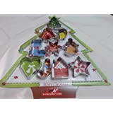 Divena 10 PCs Christmas Cookie Pastry Cutter Set