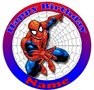 Spiderman Cake Decorations Uk : Spiderman Cake Topper