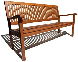 Strathwood Basics All-weather Hardwood 3-seater Bench by Strathwood