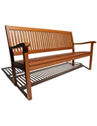 Amazing Garden Bench Strathwood Basics All Weather Hardwood 3 Seater Creativecarmelina Interior Chair Design Creativecarmelinacom