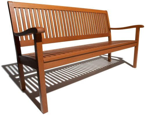 Strathwood Basics All-Weather Hardwood 3-Seater Bench