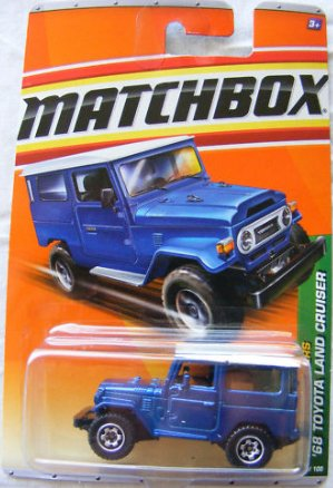 '68 Toyota Land Cruiser * Blue * Jungle Explorers Series (#1 Of 6) Matchbox 2010 Basic Die-Cast Vehicle (#95 Of 100) front-948280