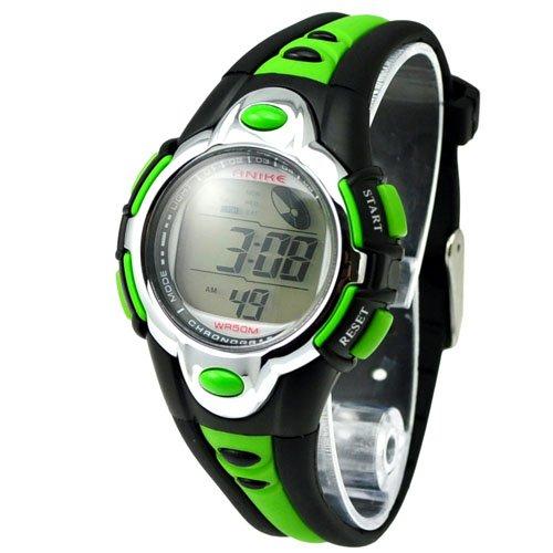 Metro Shop Watch Metro Shop Fashion 7 Colors Flash Lights 50m Waterproof Chronograph Digital Sports Watch