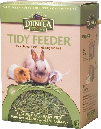 Dunlea Farms Alfalfa Hay for Babies in a Tidy Feeder Package, 24oz