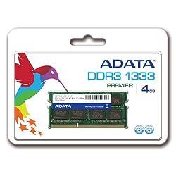 ADATA 4GB DDR3 1333 AD3S1333C4G9-R Laptop memory (AD3S1333C4G9-R)