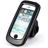Arendo - wasserdichte Fahrradhalterung für Apple iPhone 5 / 5S   Fahrrad Case/Tasche   Handy/Smartphone-Halterung   einfache Bedienung   sichere Befestigung   optimal geeignet für Bike Navigation   passend für alle Fahrradtypen und Lenker