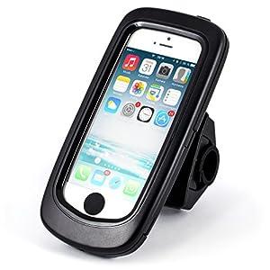 Arendo - wasserdichte Fahrradhalterung für Apple iPhone 5 / 5S | Fahrrad Case/Tasche | Handy/Smartphone-Halterung | einfache Bedienung | sichere Befestigung | optimal geeignet für Bike Navigation | passend für alle Fahrradtypen und Lenker