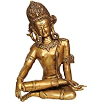 Aone India Lord Indra Brass Statue + Cash Envelope (Pack Of 20)