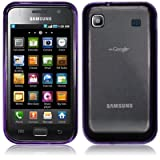 Purple Frosted Tpu Gel Case Cover For Samsung Galaxy S i9000 PART OF THE QUBITS ACCESSORIES RANGE