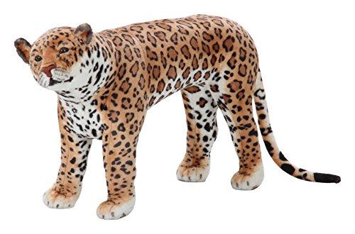 不二貿易 座れる ぬいぐるみ ヒョウ (耐荷重80kg) 豹 レオパード Z975-39 71040