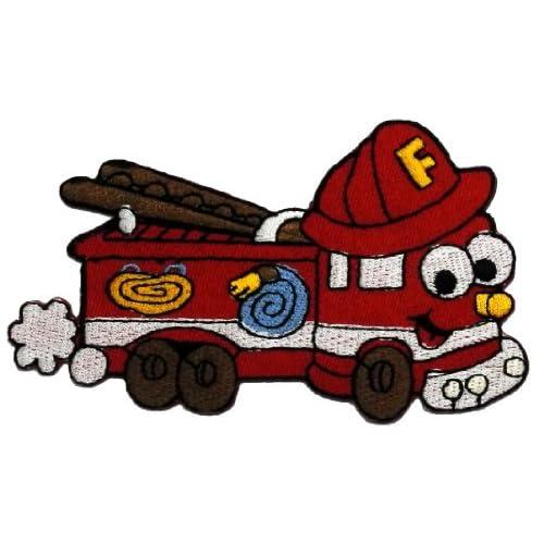 Amazon.com: Cute Cartoon Fire Engine Truck Retro Classic DIY Applique