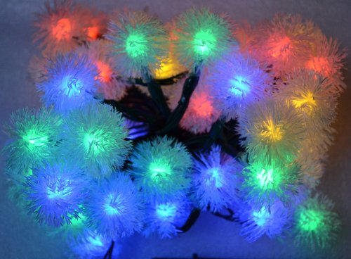 Samyo Chuzzle Solar Led Lights Fairy String For Outdoor Gardens Homes Christmas Lighting Party - 5M 50 Led (Multi-Color)