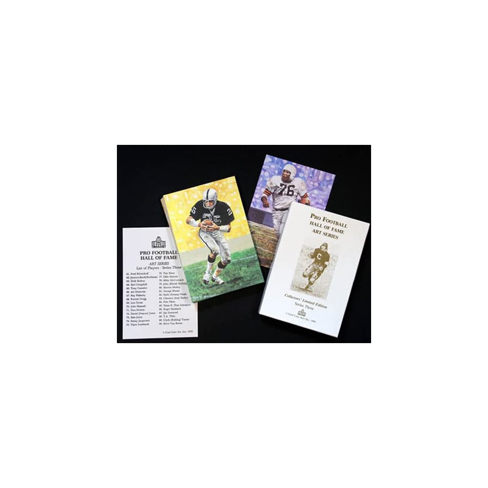 NFL Pro Football Hall of Fame Goal Line Art Cards Series 3