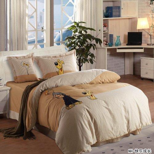 Diaidi,Kids Bedding Sets,Bedclothes For Kids,Cartoon Bed Sets,Kids Duvet Cover Sets,Kids Queen Size Bedding,Twin Bedding Set,4Pcs (Queen, 13)