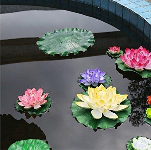 Lightingsky artificial floating foam lotus leaves for Artificial pond plants sale
