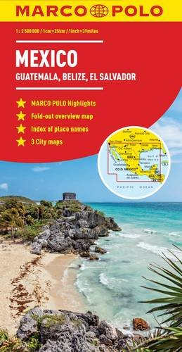 Mexico, Guatemala, Belize, El Salvador Marco Polo Map (Marco Polo Maps) (Map Central South America compare prices)