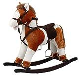 CRÉDITO caballo balancín con sonido y madera preafiladas 74cm