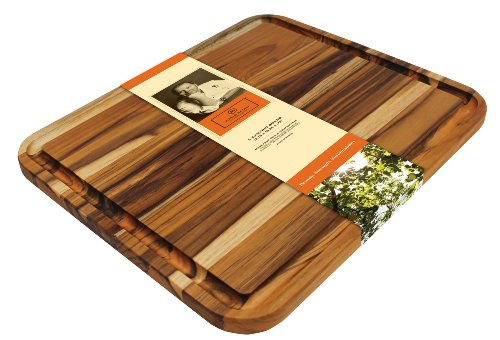 Madeira Mario Batali M-04 Edge Grain Teak Carving Board, Large