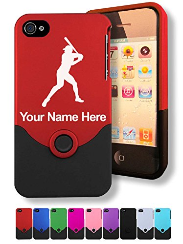 Engraved iPhone 4/4S Case/Cover - Baseball Player - Personalized for FREE (Click the CONTACT SELLER button after purchase and send a message with your case color and engraving request) (Personalized Cases For Iphone 4s compare prices)