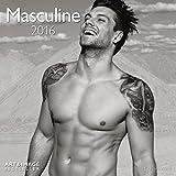 Masculine 2016- Erotikkalender/Broschürenkalender/ Erotikkalender für Frauen- schwarz/weiß- 30 x 30 cm