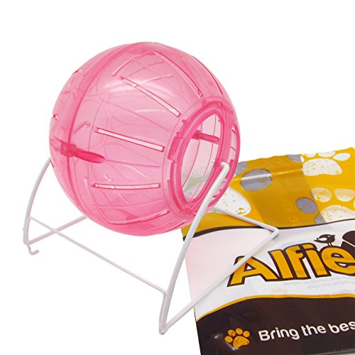 Alfie Pet by Petoga Couture - Tommy Running Exercise Wheel for Small Animals (Toy for Mouse, Chinchilla, Rat, Gerbil and Dwarf Hamster) - Color: Pink