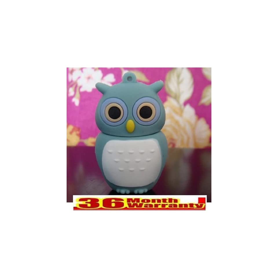 Cute Owl Shinning Cartoon Shape 4gb Crystal USB Flash Drive