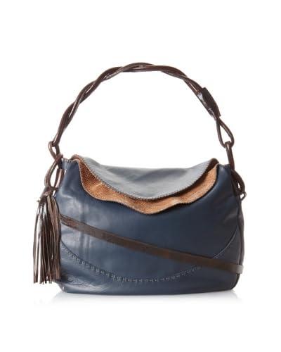 Carla Mancini Women's Monica Shoulder Bag, Navy As You See