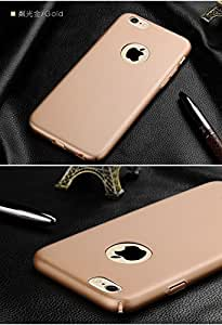 ikazen Ultra thin 360 full cover pc matte Hard back cover case For Apple iPhone 6 6S - Gold