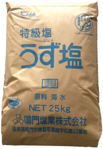 鳴門塩業 特級塩うず塩 25kg