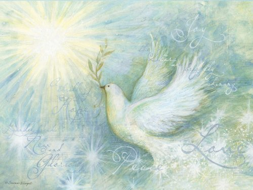 Lang Perfect Timing - Artisan Peaceful Dove Classic Christmas Cards, 12 Cards with 13 Envelopes (2004014)