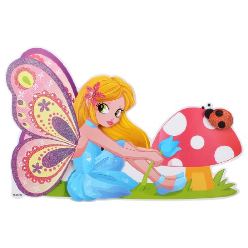 3D Pretty Angel Pattern Self Adhesive Home Wall Decor Sticker front-163531