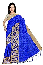 JMT Women's Cotton Saree ( JMT124 _ Blue )